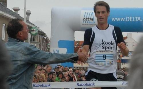 Sebastien Schletterer won in 2008 voor de tweede keer de Zeeuwse Kustmarathon
